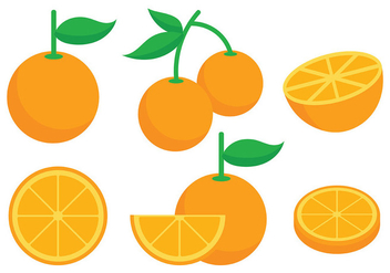Clementine Vector Icons - бесплатный vector #439381