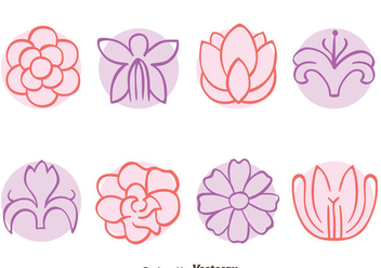 Sketch Flowers Collection Vectors - vector gratuit #439401