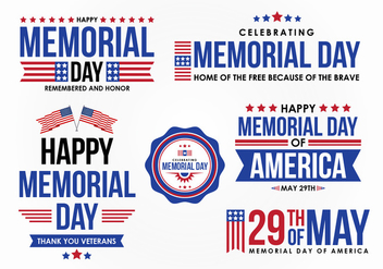 Memorial Day Vector Design Element - бесплатный vector #439441