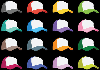Trucker Hat Vector Icons - бесплатный vector #439451