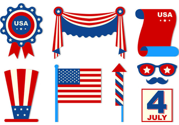 Set Of Independence Day Icons - Free vector #439461
