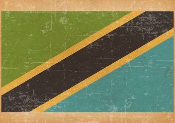 Grunge Flag of Tanzania - vector gratuit #439471
