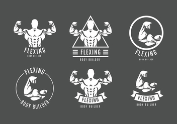 Flexing Logo Free Vector - бесплатный vector #439511