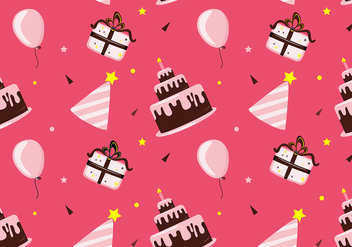 Anniversaire Pattern Free Vector - Free vector #439521