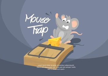 Mouse Trap Illustration - vector gratuit #439531