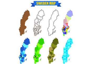 Sweden Map Vectors - vector #439541 gratis