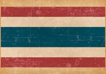 Grunge Flag of Thailand - vector gratuit #439561