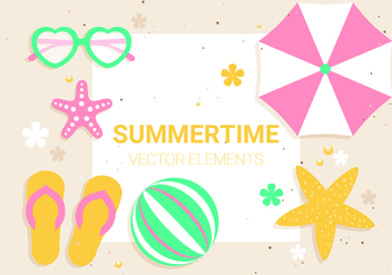Free Vector Summer Time Illustration - Kostenloses vector #439591