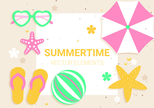Free Vector Summer Time Illustration - Free vector #439591