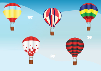 Hot Air Balloon Vector Pack - vector gratuit #439611
