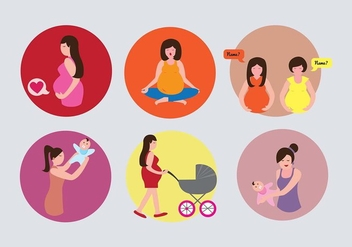 Maternity Icon Illustration Vectors - Kostenloses vector #439631