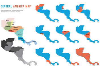 Central America Map Vector - vector #439691 gratis