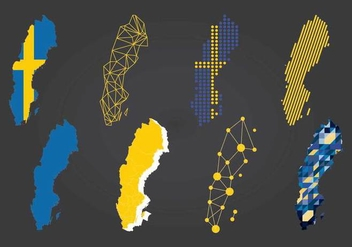 Kind of Sweden Maps Vector - vector #439721 gratis