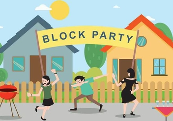 Free Block Party Illustration - vector gratuit #439861