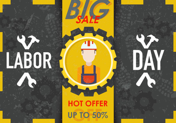 Labor Day Sale Vector - vector gratuit #439881