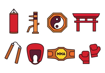 Martial Arts Icon Pack - Free vector #439891