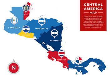 Central America Map Infographic Free Vector - Kostenloses vector #439901