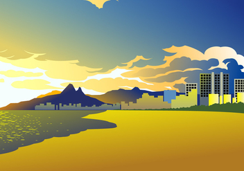 Sunset Of Copacabana Free Vector - бесплатный vector #439991
