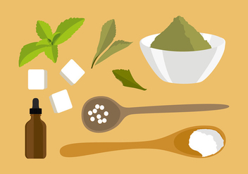 Stevia Ingredients Free Vector - бесплатный vector #440041
