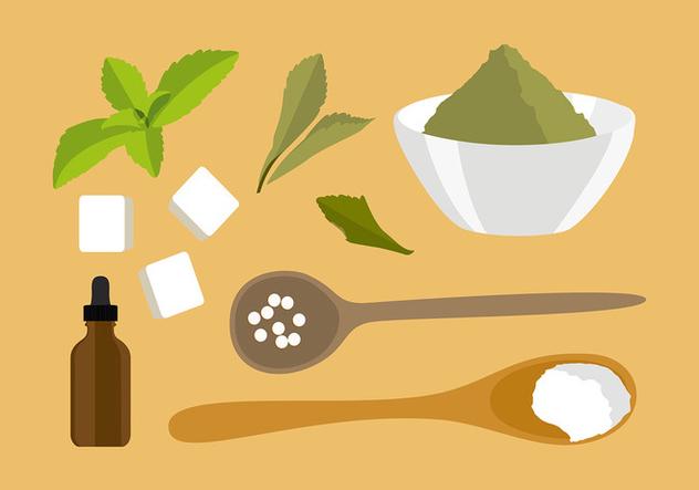 Descargar Vector Vector Gratis De Stevia Ingredientes