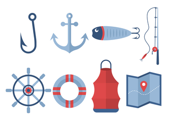 Free Fishing Vector Icons - бесплатный vector #440081