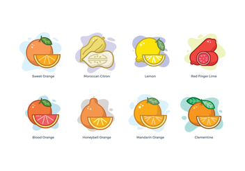 Free Citrus Family Icons - Free vector #440101