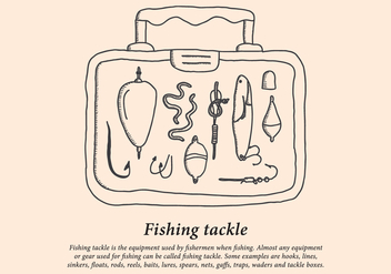 Fishing Tackle Box - vector gratuit #440111