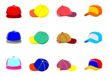 Trucker Hat Icons - vector #440131 gratis