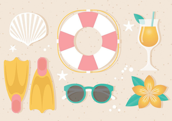 Free Vector Summer Elements - vector gratuit #440161