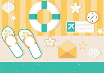 Free Vector Summer Elements - vector gratuit #440171