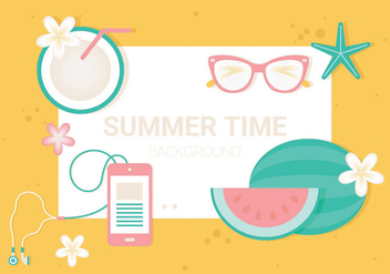 Free Summer Time Vector Illustration - Free vector #440181
