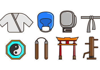 Set Of Dojo Icons - vector gratuit #440201