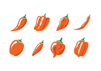 Chili peppers vector icon - Free vector #440211