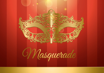 Masquerade Ball Gold and Red Free Vector - vector gratuit #440221