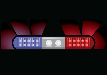 Police light vector illustration - Free vector #440231