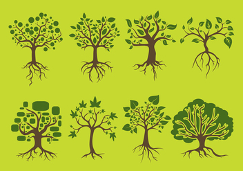 Tree With Roots Free Vector - vector #440261 gratis