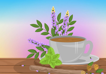 Licorice Root Tea Vector - бесплатный vector #440281