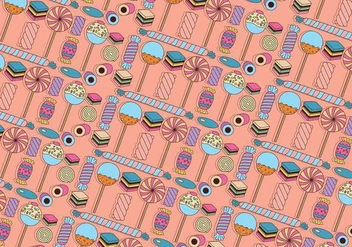 Licorice and Candy Colorful Vector Pattern - Free vector #440291