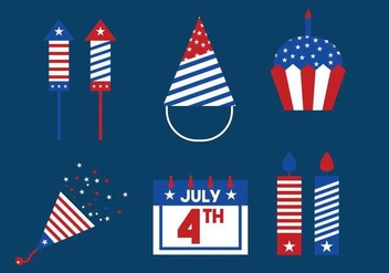 Independence Day Icon Vector Set - Free vector #440311
