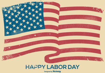 Grunge Happy Labor Day Background - vector gratuit #440321