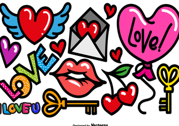 Vector Cartoon Love Icons - Kostenloses vector #440351