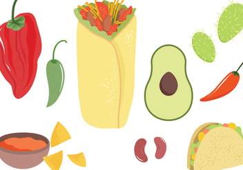 Free Mexican Food Vectors - бесплатный vector #440441