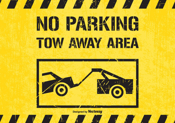 No Parking Tow Away Area Traffic Sign Vector - Kostenloses vector #440471