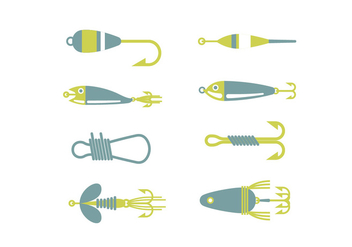 Fishing equipment vector icons - Free vector #440481