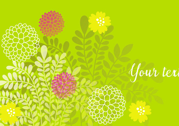 Decorative Green Floral Background - vector gratuit #440511
