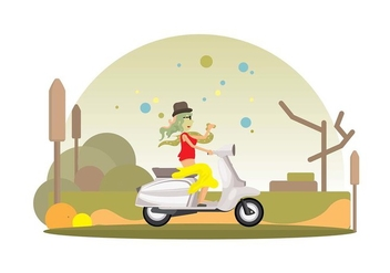 Lambreta Ride Vector Background - vector #440521 gratis