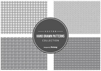 Cute Hand Drawn Pattern Collection - vector #440561 gratis