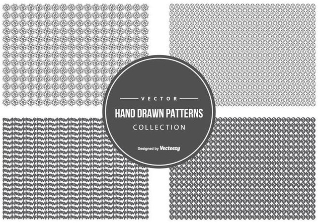 Cute Hand Drawn Pattern Collection - vector gratuit #440561