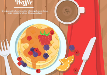 Strawberry Honey Waffle - vector gratuit #440581