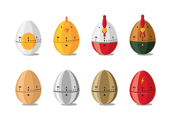 Egg Timer Cartoon Free Vector - бесплатный vector #440591